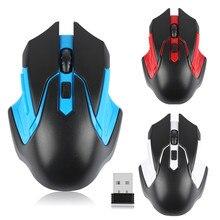 Ganze Verkauf 2,4G Drahtlose Maus USB 2.0 Empfänger Professionelle Optische Drahtlose Mäuse USB Rechten Scroll Mäuse für Laptop PC Gamer
