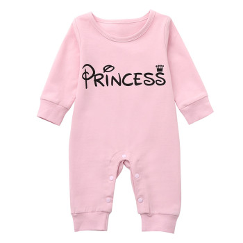 MUQGEW Newborn Infant Baby Girl Letter Princess Romper Jumpsuit Outfits Clothes Winter clothes for baby children's clothing Baby Rompers