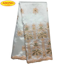 ADONG George Wrapper Fabric In Lace Indian George Satin Lace Fabric With Sequins  Hot Design For Party Clothing African Garment 52b9b2ec632c