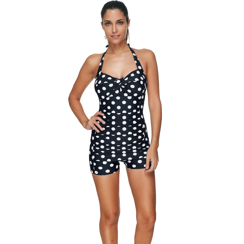 One-Piece Suit Plus Size Swimwear Female One Piece Swimsuit Women Vintage Bathing Suit Retro Large Size Swimsuits 3XL one