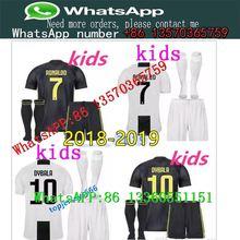 19a81fa47 2018 19Juventus soccer T-shirt RONALDO DYBALA HIGUAIN kids kit 18 19 juve  MARCHISIO