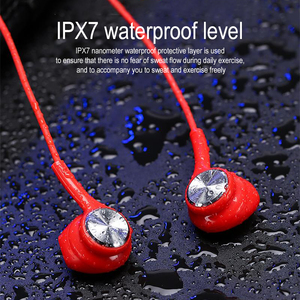 Image 5 - New Wireless Bluetooth Earphones Magnetic Stereo Sports Headset IPX7 Waterproof Wireless Earphones with Mic for Smartphones