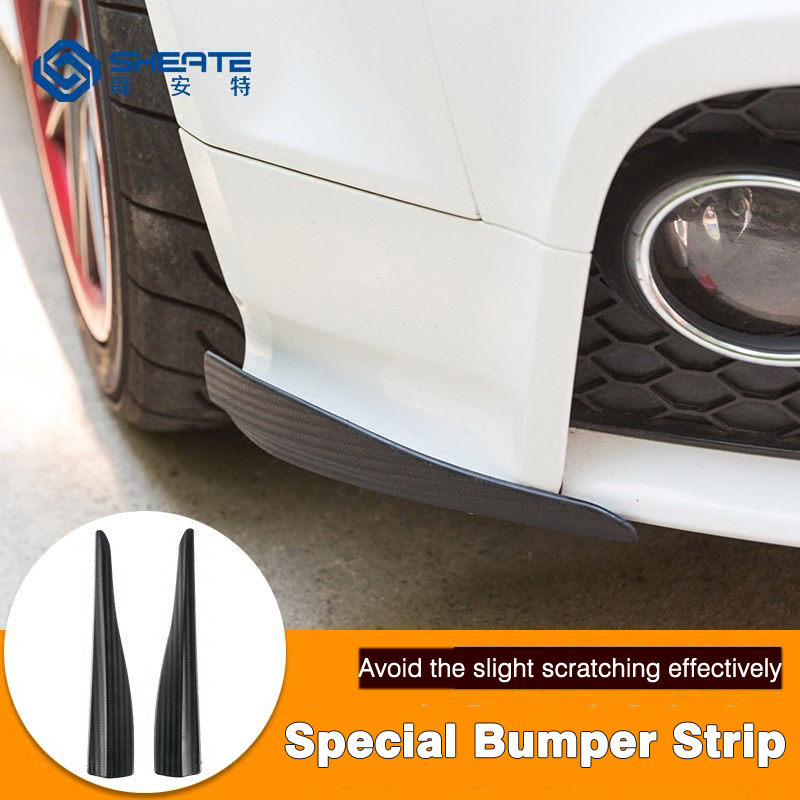 SHEATE Car Anti scratch strip Door edge guard protection 2PCS Front bumper pad soft rubber cover