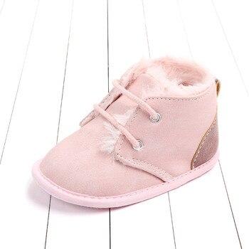 2020 Baby Girls Boys Winter Keep Warm Shoes First Walkers Sneakers Kids Crib Infant Toddler Footwear Boots Newborns Prewalkers - Pink, 7-12 Months