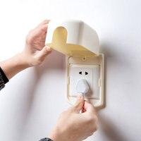 Útil à prova dwaterproof água e à prova de poeira caixa de interruptor de proteção de soquete de plástico anti elétrico capa para a segurança do bebê decoração de casa|Capas p/ interruptor|Casa e Jardim -