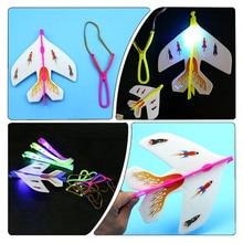 1Set Stretch Flash Arrows Aircraft Flying Toys Helicopter Led Light Kids Light Toys Color Random