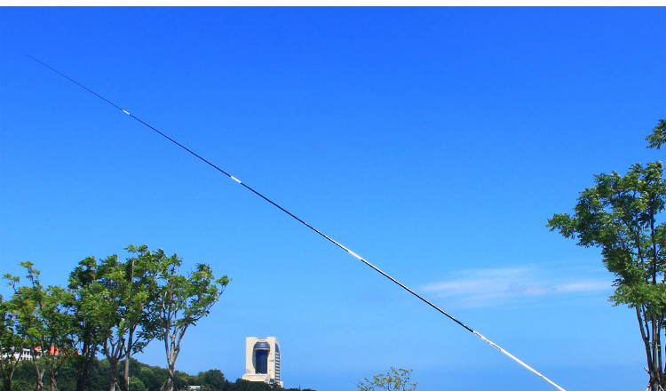 Vara de pesca de carbono 3.9m 5.4