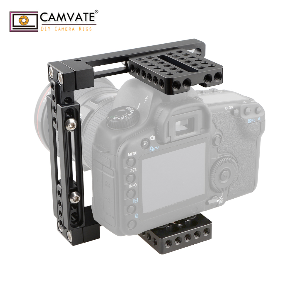 CAMVATE Dual use Adjustable Cage for 80D GH5 Basic C1722 camera photography accessories