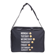 Emoji week black 3D Printing handbag Leather women leather handbags 2016 New purses and handbags clutch canta bolsos mujer sac