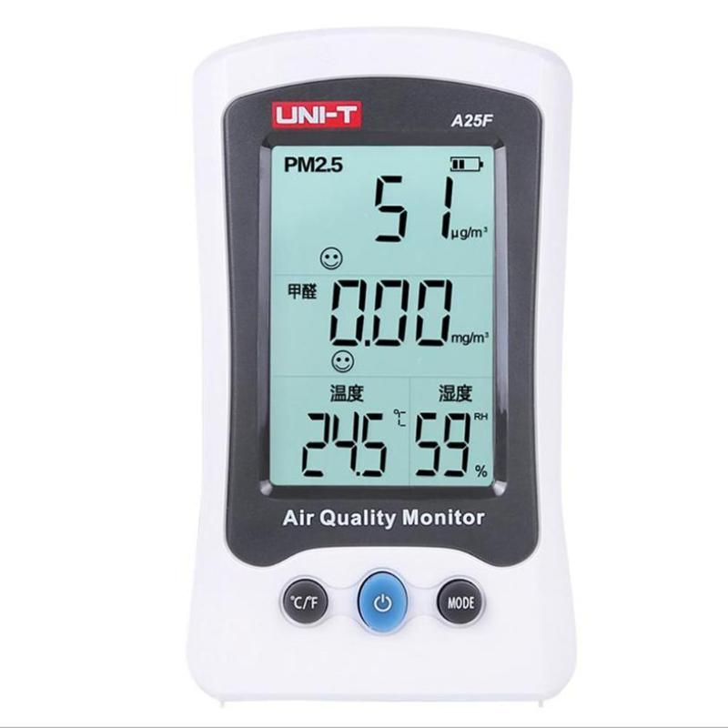 Air Quality Monitor Formaldehyde Detector PM2.5 Gas Analyzer HCHO Tester Temperature Humidity Meter Detector Gas Analyzers free shipping air monitor thermometer hygrometer gas analyzers