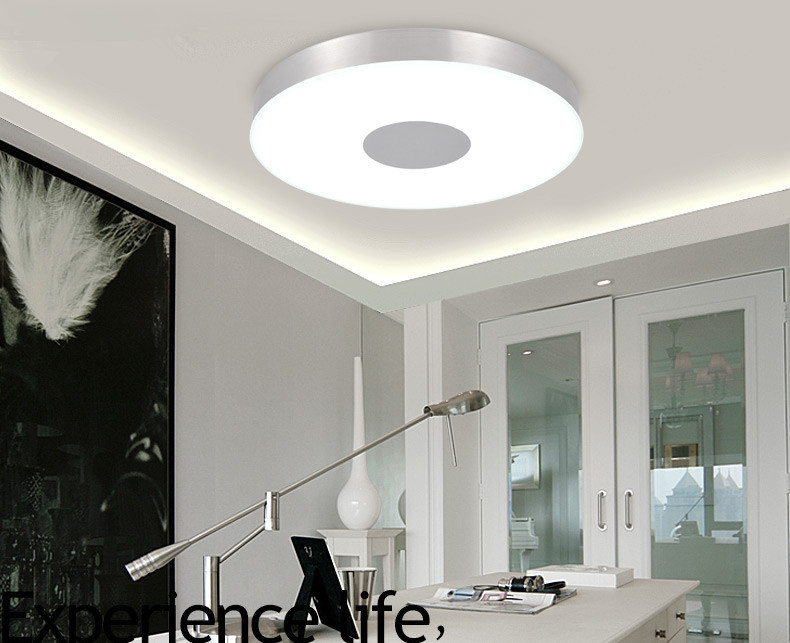 Modern Ceiling lamp lighting dia36cm round aluminum Tempered glass