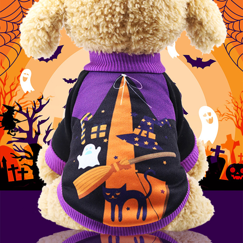fashion Pet Clothes Holiday Halloween Pumpkin Pet Clothes Dog Sweater Puppy Kitten Small Dogs supplies holiday decoration