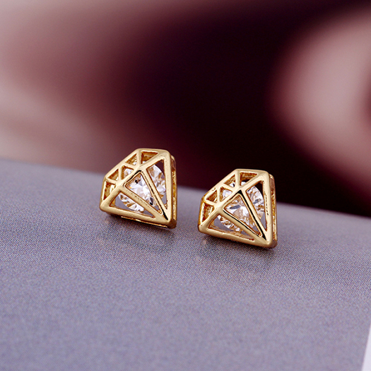 3 colors pure simple real  fashion crystal earrings for women jewelry wholesale  E-shine Jewelry