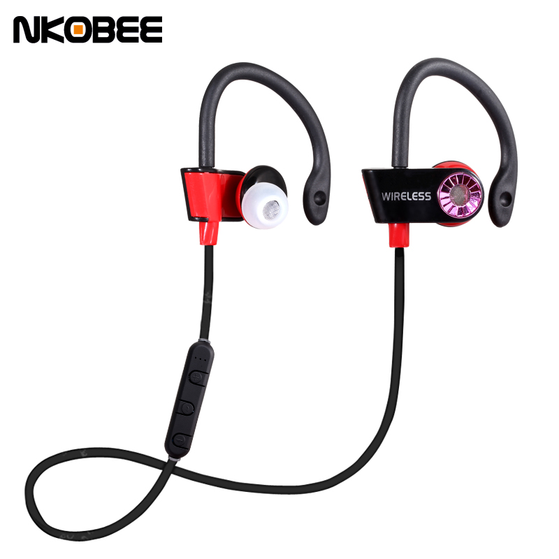Casque Audio Bluetooth Sport NKOBEE In-Ear Wireless Bluetooth Earphone Stereo Earbuds Headset Bass Earphones with Mic For iPhone