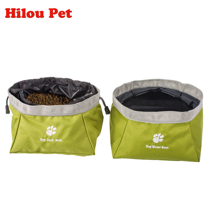 Pet Portable High Capacity Snack Bag Watering Bag Collapsible Dog Bowl Foldable Travel Outdoor Pet Bowl for Food and Water