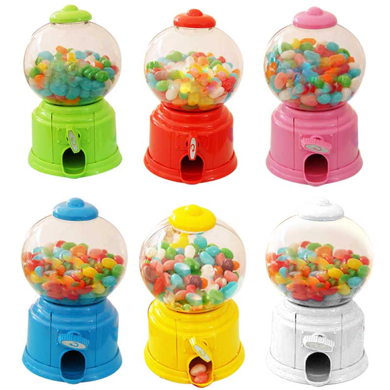 Lovely Sweets Mini Candy Machine Bubble Gumball Dispenser Coin Bank Kids Toy Money Saving Box for
