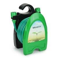 10M 32FT Draagbare Mini Water Slanghaspel Tuin Watering Auto Wassen Slang Pijp Opslag Houder Kit