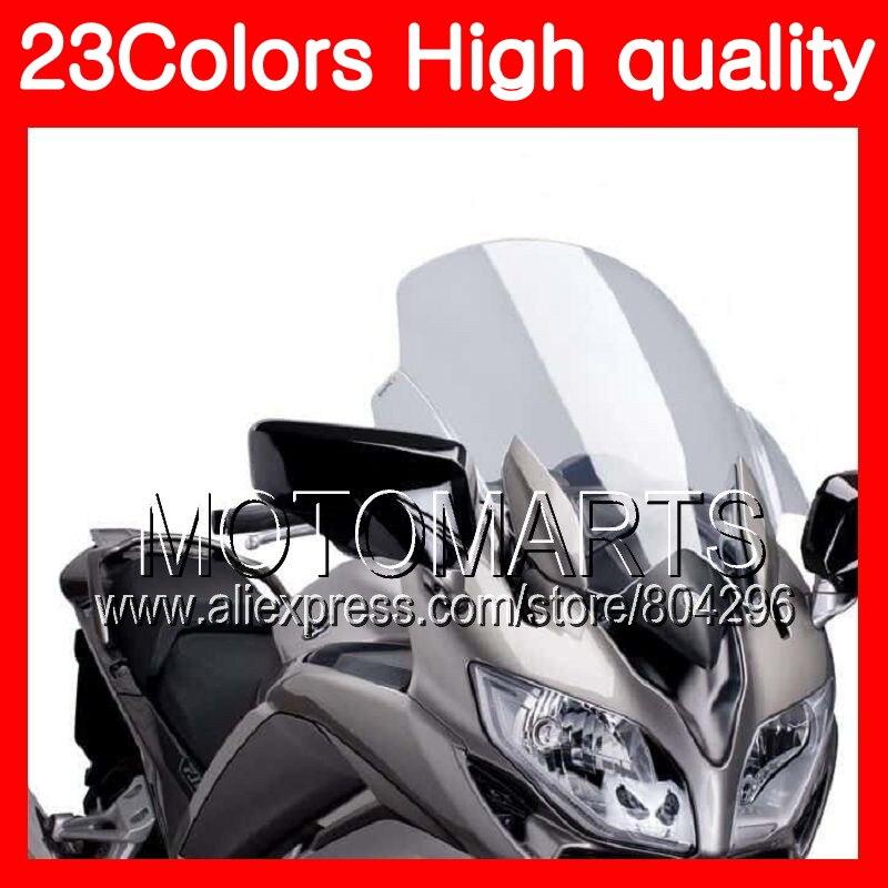 все цены на 23Colors Windscreen For YAMAHA FJR1300 06 07 08 09 10 12 FJR 1300 2006 2007 2008 2010 2012 Chrome Black Clear Smoke Windshield онлайн