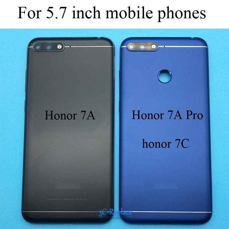 Cover Door-Housing-Case Back-Battery Honor Huawei Glass-Parts for 7C 7A Rear Pro