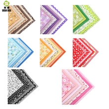 ShuanShuo 50x50cm Normal Quality 8 kind different Series Patchwork Cotton Fabric Fat Quarter Bundle For DIY Sewing