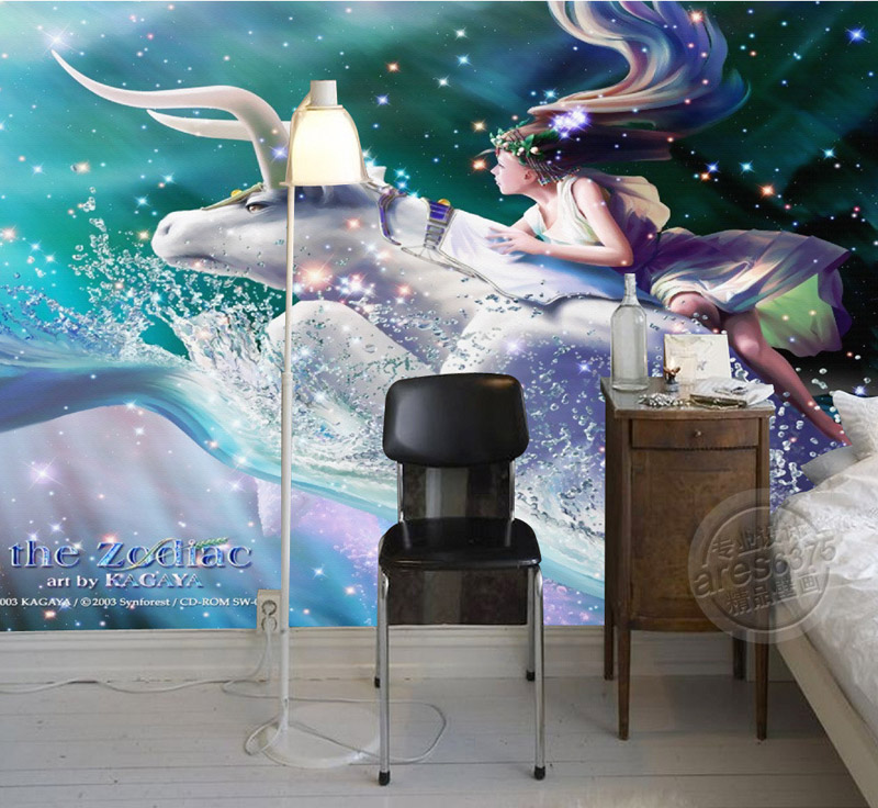 Popular galaxy wallpaper for kids bedroom buy cheap galaxy for Custom mural cost