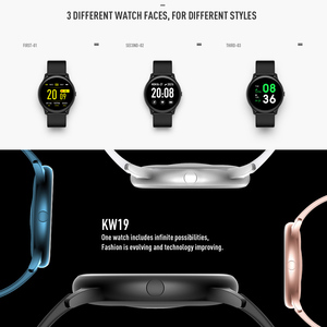 Image 5 - CYUC KW19 Pro wommen умные часы полный сенсорный экран кислорода в крови давление спорт smartwatch мужчины трекер фитнес для android IOS