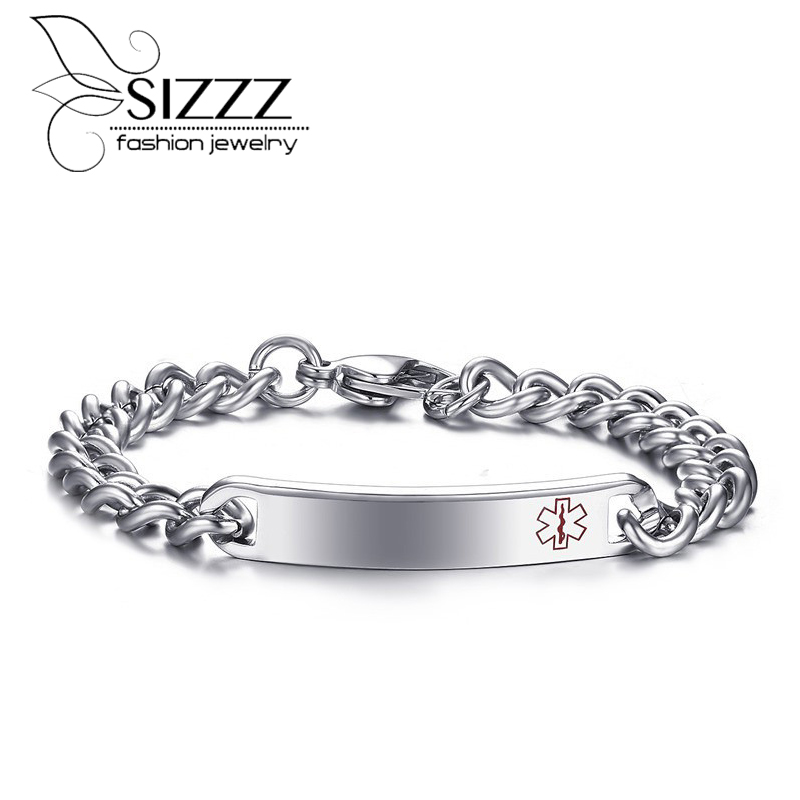 Men Medical Alert Bracelet High Quality Stainless Steel Id 205mm Jewelry In Bracelets From Accessories On Aliexpress Alibaba