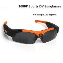 Sunglasses Mini Camera Wide angle 120 degrees Black/Orange Mini DV Camcorder DVR Video Camera Smart Glasses HD 1080P For Outdoor