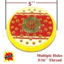 5 дюймов шлифовальная площадка несколько отверстий 125 мм подложка мульти отверстие абразивные шлифовальный диск Pad крюк и петля 5/16 для воздуха полировщик