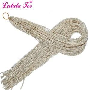 Image 2 - 30 box long longa caixa zizi sintético tranças crochê trança extensão do cabelo rosa escrever roxo colorido 28 raízes/pacote 45g lulalatoo