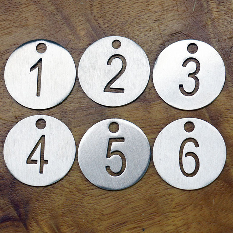 Customized Number Tag Number Key Chain Key Ring Keyring Tag Dog