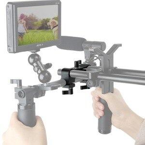 Image 4 - NICEYRIG зажим DSLR 15 мм, стержень, двойной в один, 90 градусов, Railblock для видеокамеры, камеры DV/DC, плечевая опора, система поддержки