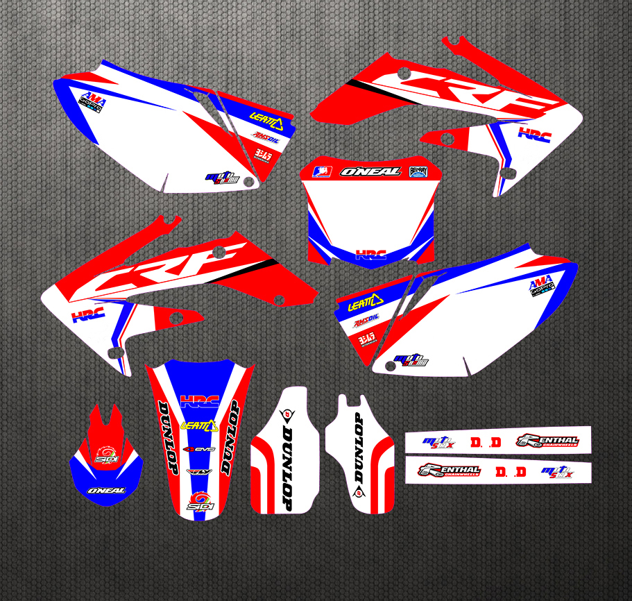 New Style TEAM GRAPHICS BACKGROUNDS DECALS STICKERS Kits For Honda CRF250 CRF250R CRF 250 250R 2004