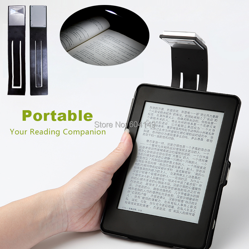 Rechargeable E-book Led Light For Kindle Paper As A Bookmark Reading Lamp 4 Intensities Of  Lighting Flexible E-read Book Light
