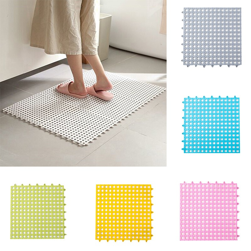 Us 5 49 40 Off Kitchen Bathroom Mat Pvc Bath Safety Non Slip Diy Sching Impermeable Drain Feet Pad Shower Floor Rug 29 5x29 5cm In
