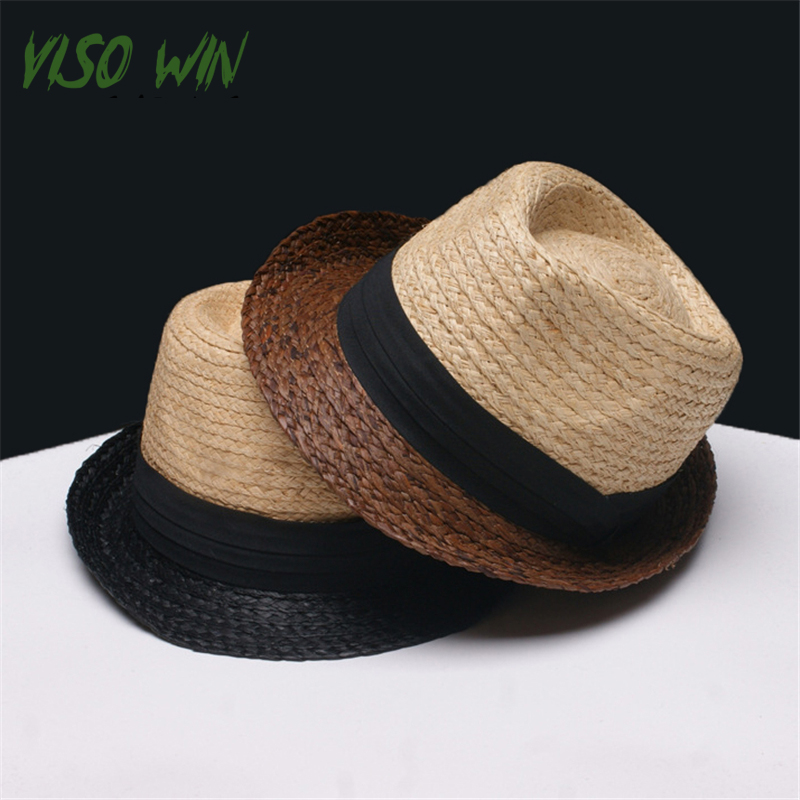 e0d428d00 2017 New men straw hat summer sun hats european jazz cap fashion ...