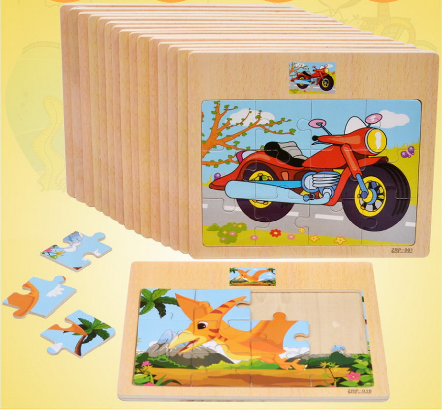 Dhl 200pcs Cartoon Animal Traffic Jigsaw Puzzle Toys Wooden Board Toy Kids Cognitive Develop Early Education Puzzle Toys Carefully Selected Materials