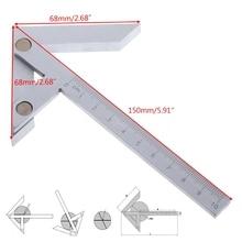 Centering Square 100*70mm Gaging Center Gauge Round Bar Marking Center Finder