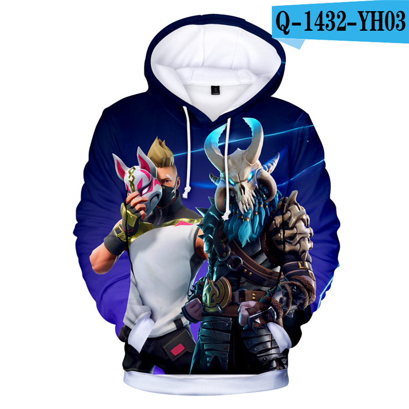 3D Print Hoodie Fortnited Battle Royale Moleton Fortnight Women Clothing Fornit Kid Clothes Game Clothes Harajuku Fox Mask Kpop