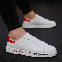 New Arrival White Flat Shoes Men Casual Lace-up Breathable Classic tenis masculino adulto white shoes for mens  5