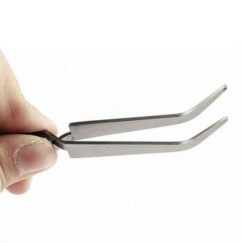 1PC DIY Hand Clip Nail Art Tweezers Rhinestones Gem Decor Black Eyelash Tweezers Anti-static Nail Art Acrylic Gel Picking Tool
