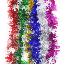 6Pcs 2M 6.5Ft holiday tinsel Garland Streamers party Wedding Ceiling pendants Decorations Hanging Roof Ornaments