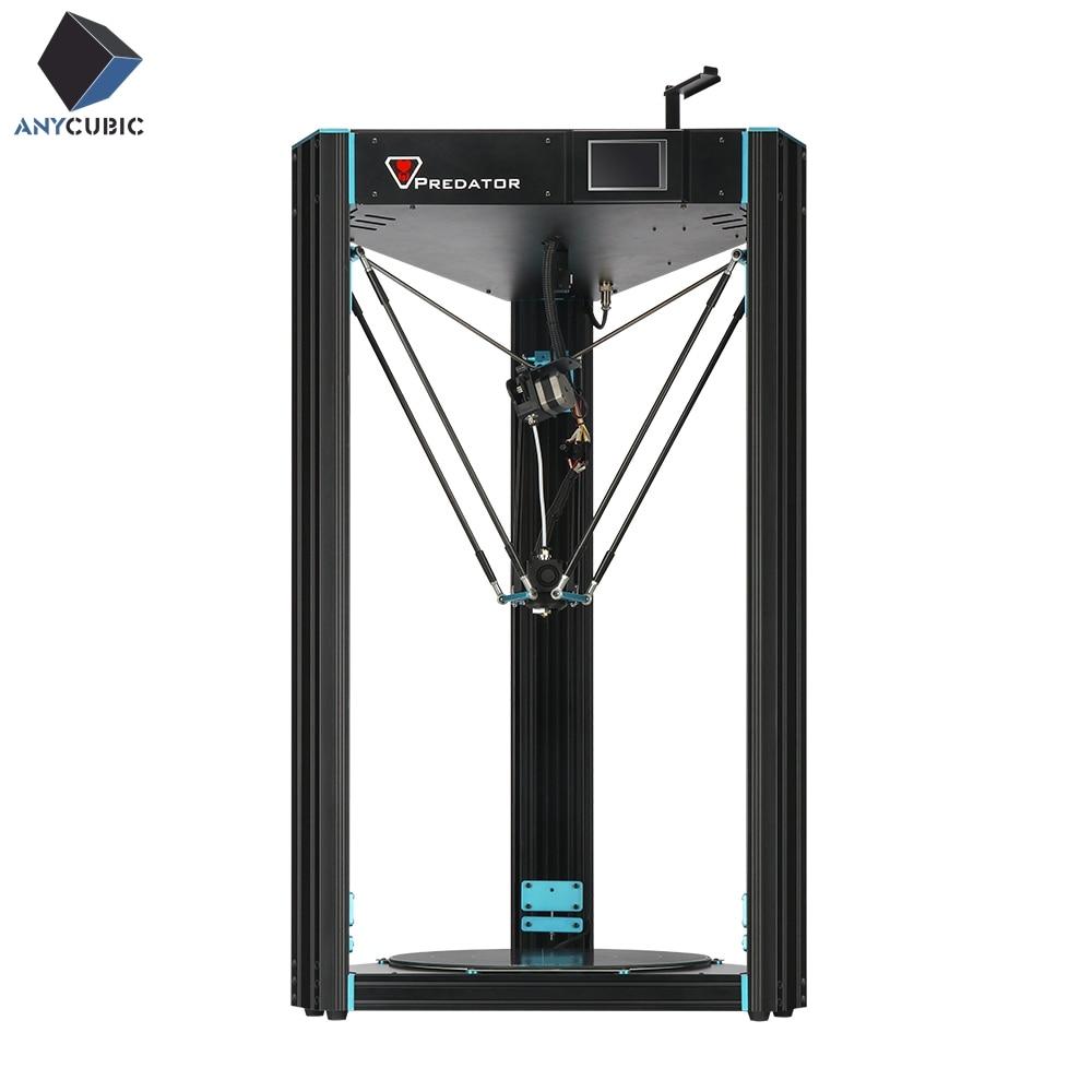 La plus grande poulie de Delta de prédateur d'imprimante d'anycubic 3D avec le nivellement automatique 370x370x455mm grande extrudeuse 3D de Titan de grande taille d'impression