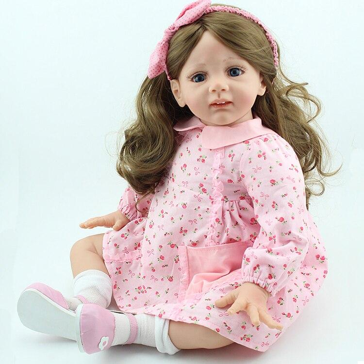 60 cm brinquedos para meninas silicone menina boneca renascer brinquedos 24in lifelike bebê renascer brinquedos nascidos bebês juguetes brinquedos