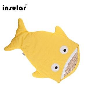 Image 4 - Insular sac de couchage pour bébé, couverture de requin, mignon, dessin animé, sac de couchage dhiver pour bébé, selle chaude, nouveauté