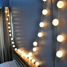 35 Bolas de Algodón de Color Blanco Con Luz de la Secuencia de Iluminación de La Decoración de Año Nuevo Hecho A Mano Decoración De Navidad Hacer Su Casa Única