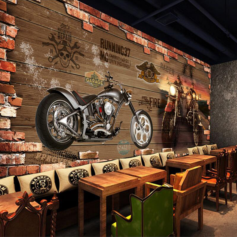 Custom photo silk 3d wallpaper for walls 3 d club harley for Club de suscriptores mural