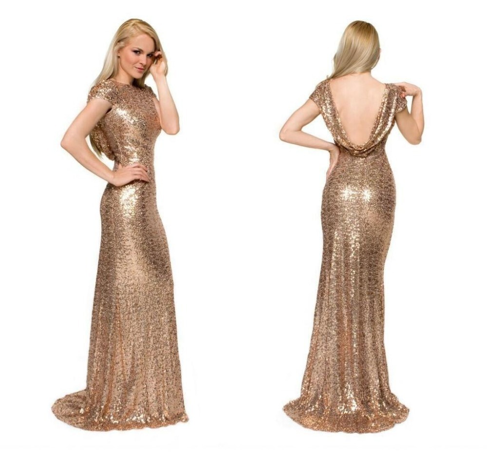 Cheap gold mermaid dress