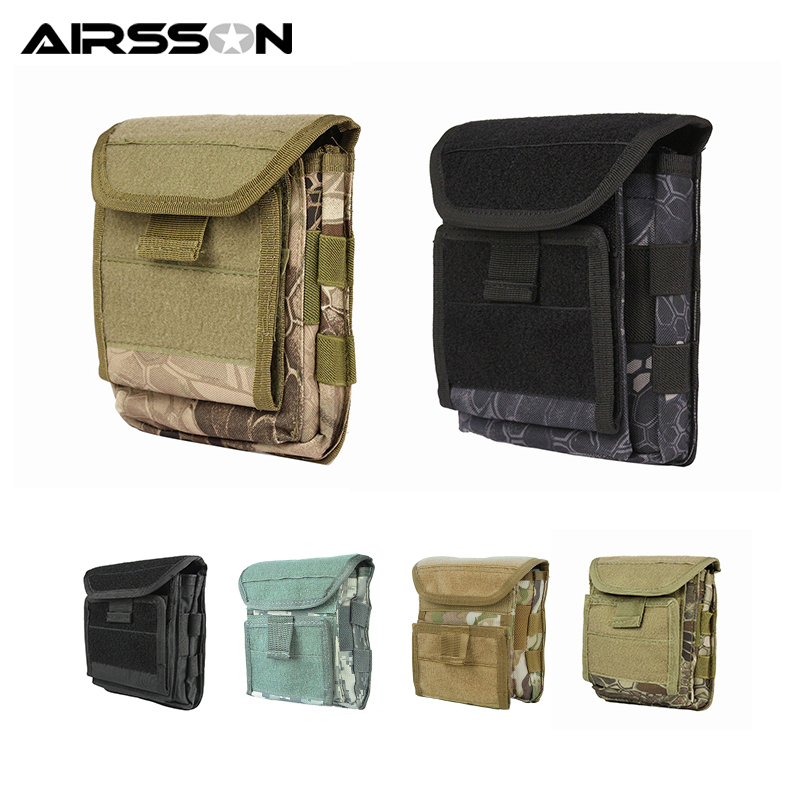 Muti-functional 1000D Molle Admin Magazine Storage Tactical Pouch For Air Gun Pistol Holster Bag For Men Outdoor Hunting Sports admin area