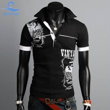 Bebling 2015 New Men s Clothing Fashion Brand polo men Polo Shirts Printing Design Quality Summer